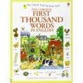 First Thousand Words in English by Heather Amery