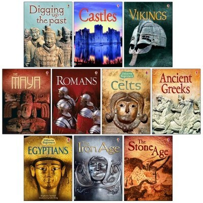 Usborne Beginners History 10 Books Set - Castles, Vikings, Romans, The Celts, Anicent Greeks, Egyptians and MORE