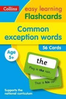 Common Exception Words Flashcards : Ideal for Home Learning