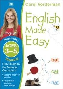 English Made Easy Rhyming Ages 3-5 Preschool by Carol Vorderman