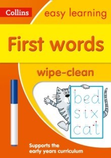 First Words Age 3-5 Wipe Clean Activity Book : Ideal for Home Learning by Collins Easy Learning
