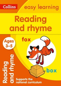 Reading and Rhyme Ages 3-5 : Ideal for Home Learning by Collins Easy Learning
