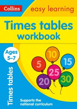 Times Tables Workbook Ages 5-7 : Ideal for Home Learning by Collins Easy Learning