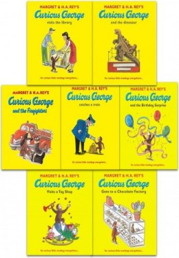 Curious George The Monkey Collection Margret Rey 7 Books Set