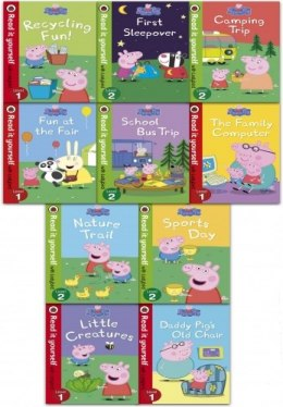 Peppa Pig Read it Yourself with Ladybird Collection 10 Books Set (Level 1-2)